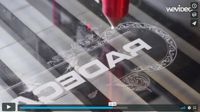 Piranha CO2 Laser Engraving Clear Acrylic