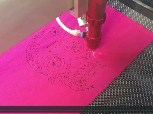 Piranha Laser engraving and cutting fabric – Skull pattern