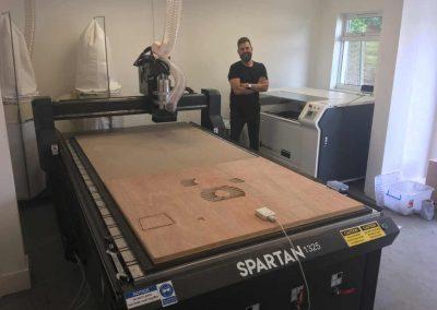 Spartan 1325 CNC Router & Piranha Laser install