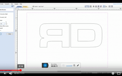 Vectric V Carve Pro Tutorial – How to create a simple  offset.