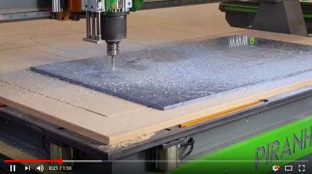 CNC Router Making A Solid Surface Kitchen Sink Aperture