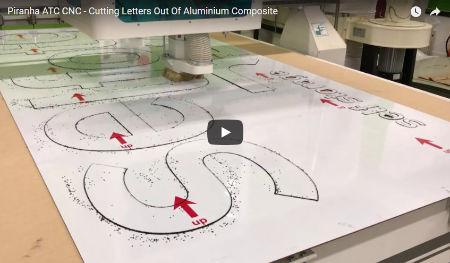 CNC Router Cutting Aluminium Composite Lettering